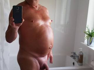 Showered and shaved!