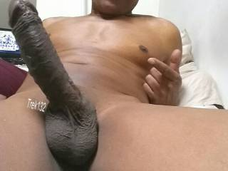 Baby, I would just love to salute that beauty, and then wrap it in hot pussy and keep it all nice and warm.  I love a huge, beautiful, black cock, and a black man who knows how to take care of a white woman.