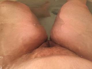 Funny, when I am in the tub, I wish for a hot pussy around my cock. We need to help eachother out with this thing.