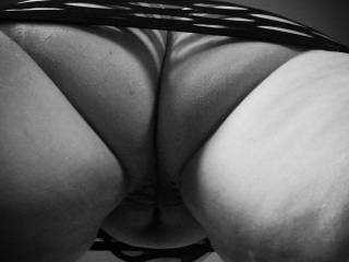 Naughty you looking up my skirt...do you like what you've found?