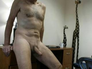 Just hanging around naked posing for the camera so I can see myself on Zoig.