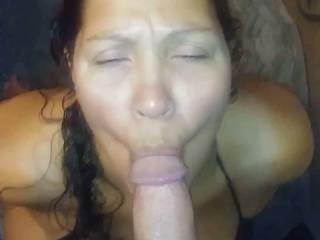 My wife sucking a freind of ours cock before him and another guy we met at local nightspot with huge cock both fucked her as enjoyed watching het in action.