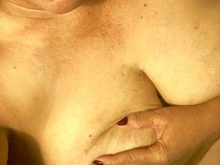 My titties need to be warmed up does anybody want to fuck them and unload their hot cum on them and then suck my tittles really really hard, While Fingering my pussy??