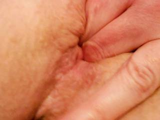 Horny milf that I fuck sending pic of her fingers in her cunt as we sext each other.