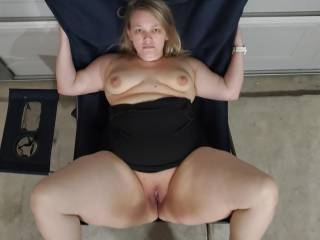 Legs spread and ready to fuck