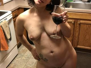 The end of a night being naked at a coworkers birthday party. This is the look of a very happy woman who\'s been fucked 8 times by 6 different people, 4 of them total strangers. All in about a 5 hour window. That night was so good.