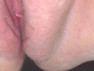 Good view of my pussy while bent over to get fucked! Like what you see?