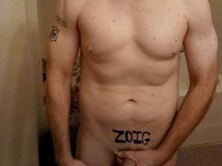 I wanted to get genuine status, so I wrote ZOIG and squeeze on my piece to try and make it look bigger.