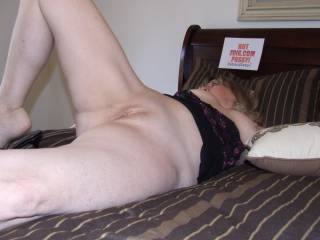 My man is out of town and I am so horny and missing him.  What is a lonely girl to do?