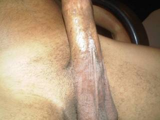 A beautiful view of your cock and balls. I like what I see.  HD