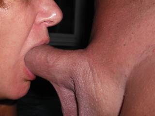 Deeply sucking his lovely smooth hard cock in the spa at home.