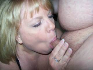 Mrs Daytonohfun working my cock over during a recent play date