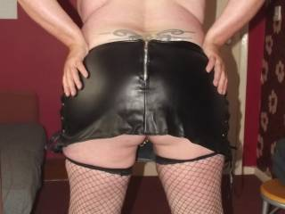 hubby got me anew skirt to wear when out & about would you take me out with it on