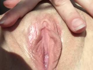 beautiful pussy,i would love to suck on her clit and pussy lips until she cums all over my face,then slide my cock balls deep up in her