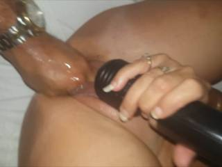 Just progressing along in the series of one intense play session. Here the gorjuz girl takes my fist all the way in, and wow! - so many orgasms and wondrous sounds of sloshing in her pussy as she squirts and squirts.