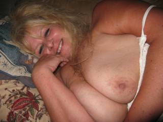 How do you get away with exposing Mary's boobies while she is napping? Have a hard cock ready for her :)