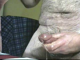 A video I've not seen for a while. Long, slow cumshots. And lots of it.