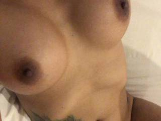 I am upgrade my body a bit in boobs area with hubby\'s gift like. I need to know you like my new look with bigger size or not... Mark it , boys, with your pics or vdo with tribute on my photos.  amount of cum will be like a mark.  no cum - no like, cum