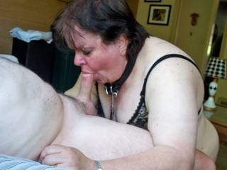 Submissive cock sucker.  She loves to be told to suck cock.