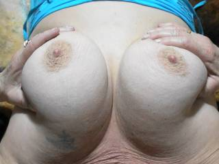 Photos from a recent lazy Sunday afternoon session with boyfriend. Do you like my big tits?