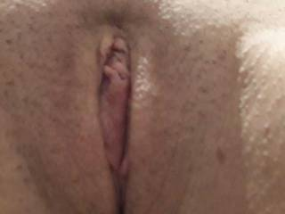 Got my friends fiancé to show me her shaved pussy.