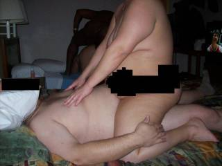 I loved getting ridden as I looked over and watched Mrs Daytonohfun get fucked on the next bed.  Mr Daytonohfun watched and took pictures of everything