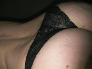 Pantied ass