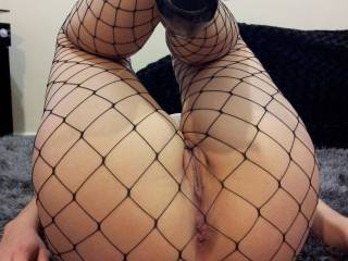 I don't think anyone in their right mind would say no to that!  I'd love to have those sexy, fishnet covered legs of yours over my shoulders as I fucked you hard!