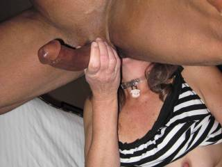 licking my asshole and stroking my cock