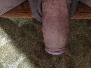 Oh yes, I love a hanging around and soft swinging cock.  I like giving it a nice suck once in a while.  MILF K