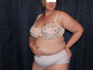 Me in bra and panties. For you guys who like women like me in underwear.