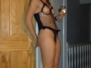 great shaped long legs and high heels and all invitingly dressed up so what choice do i have except to follow her to the bedroom...? or drag her into it! lol