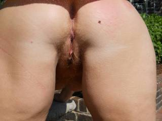 bent over  waiting for a dick