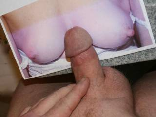 i blew a big load on these hot sexy tits see video