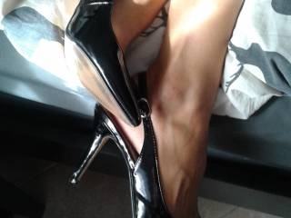 Fucking in heels and nothing else gives me a feeling of sexy power