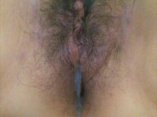 ...Just a creamy cum shot dripping out of her pussy...