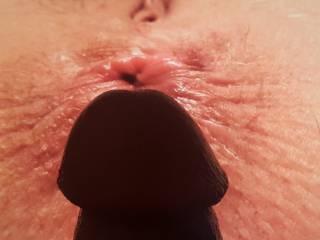 Cock on beautiful ass-hole