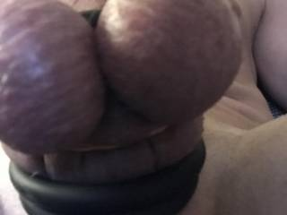 My tied balls. Do you like to take them in your mouth?