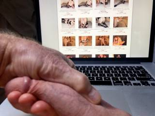 Choosing one of jusus2\'s photos to jerk my cock to.