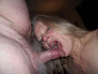 New neighborhood slut shows off her cocksucker mouth.