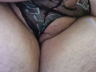 Pussy waiting for a cock in see tho underwear