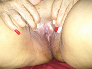 My wife pussy ready for a big black cock