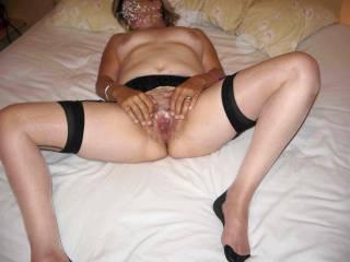 stockings mature pussy