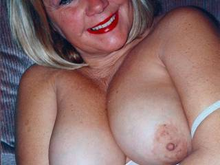 she not the only one that loves her tits you think you could coach her into squeezing them together as i slide my cock between them