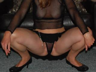 She looks amazingly hot with this sexy outfit! Be sure that she could have my hard cock anytime!
