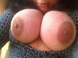 I would rather lick & suck them & then watch them swing while I have you bent over taking my cock balls deep inside you while I pump you fast & hard until I cum inside you