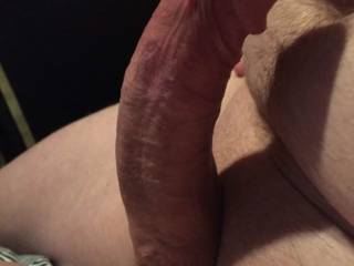 It would be great to feel that big head leading the way for your curved cock down my throat.
