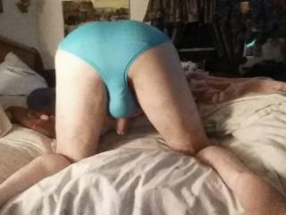 Rear view of new panties