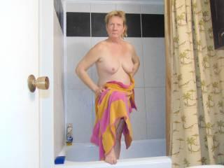 Joanne after shower