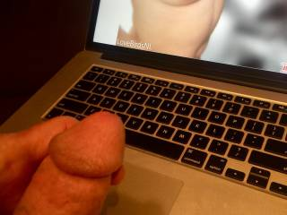 I stare at LoveBirdsNL delicious pink nipples tipping her small breasts as my cock swells and grows fat in my hand. Thoughts of cuming soon as I  sucking her.